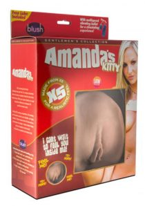 X5 Latin Collection Amanda`s Kitty Realistic Vagina Masturbator Brown 6.25 Inch