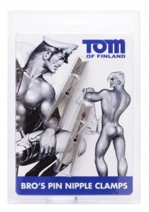 Tom Of Finland Bro`s Pin Stainless Steel Nipple Clamps