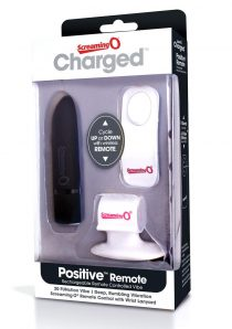 Charged Positive Wireless Remote Control USB Rechargeable Vibe Waterproof Black
