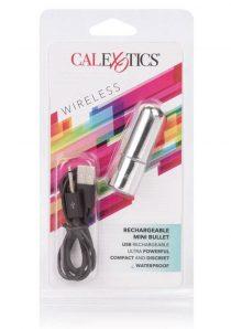 Wireless Mini Bullet USB Rechargeable Waterproof Silver 2.5 Inch