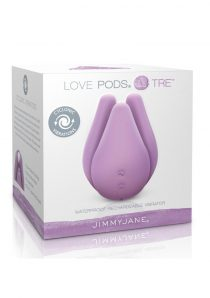 Jimmy Jane Love Pods Tre Silicone USB Rechargeable Cyclonic Vibrator Waterproof Purple