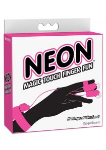 Neon Magic Touch Finger Fun Wired Remote Control Finger Ticklers Pink