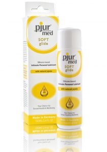 Pjur Soft Glide Silicone Intimate Personal Lubricant With Natural Jojoba 3.4 Ounce/100ml