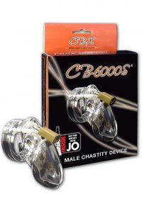 CB-6000S Designer Collection Male Chasitity Device With Lock Clear