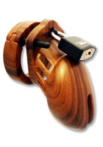 CB-6000S Designer Collection Male Chasitity Device With Lock Wood Finish