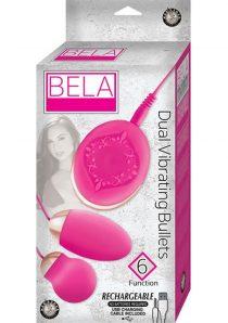 Bela Silicone Dual Vibrating Bullets Waterproof Pink