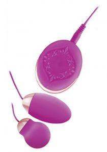 Bela Silicone Dual Vibrating Bullets Waterproof Purple