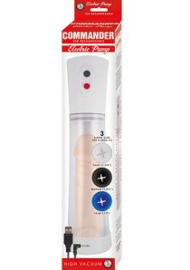 Commander USB Rechargeable Electric Pump Clear 11.5 Inch