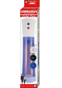 Commander USB Rechargeable Electric Pump Blue 11.5 Inch