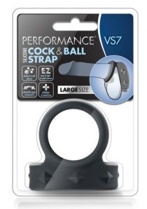 Performance VS7 Silicone Cock and Ball Strap Large Black