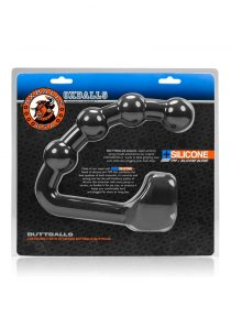 Buttballs Silicone Blend Cocksling 2 With Attached Buttballs Buttplug Black