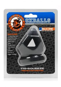 Tri Squeeze Silicone Blend 3 Ring Ballstretching Sling Black