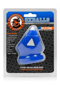 Tri Squeeze Silicone Blend 3 Ring Ballstretching Sling Blue