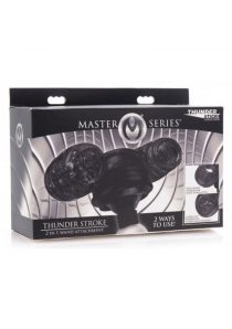 Master Series Thunder Stroke 2 in 1 Wand Attachment Black