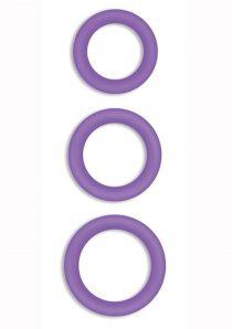 Firefly Halo Silicone Cock Ring Purple Medium
