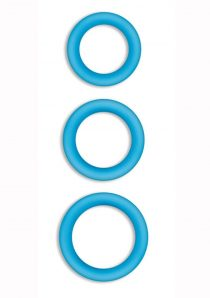 Firefly Halo Silicone Cock Ring Blue Large