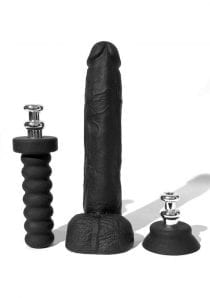 Boneyard Cock  10 Inches Dildo With Silicone Handle or Suction Cup  Base Attachment Black