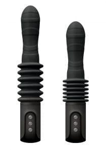 Renegade Deep Stroker Black Vibrator Multi Function Silicone  Rechargeable