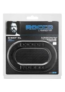 Rocco 3 Way Wrap Ring Silicone Cockring Black