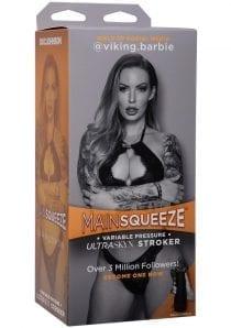 Main Squeeze Ultraskyn Stroker Viking Barbie  Pussy Masturbator Non Vibrating Textured Flesh
