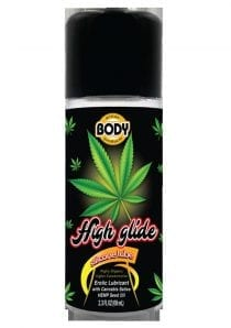 High Glide Silicone Erotic Lubricant With Cannabis Sativa Hemp Seed Oil 2.3 Ounces