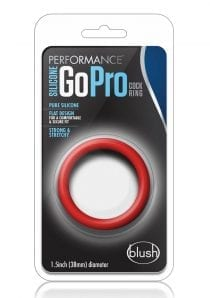 Performance Silicone Go Pro Cockring Red