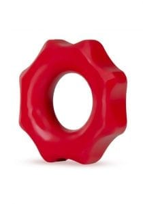 Stay Hard Nutz Cockring Silicone Non Vibrating Red