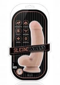 Sw Dildo W/balls 7 Vanilla