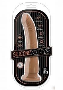 Silicone Willy`s Non Vibrating Realistic Dildo Mocha 8.5 Inch