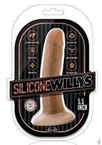 Silicone Willy`s Non Vibrating Realistic Dildo Mocha 5.5 Inch