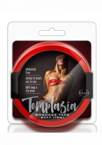 Temptasia Bondage Red Black 60 Feet