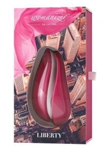 Womanizer Liberty Silicone USB Rechargeable Clitoral Stimulator Waterproof Red Wine 4.09 Inch