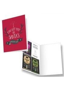Santas Naughty List Greeting Card