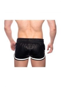 Prowler Red Leather Sport Shorts Wht Xs