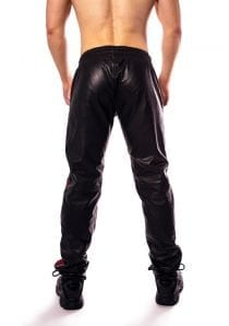 Prowler Red Leather Joggers Red Sm